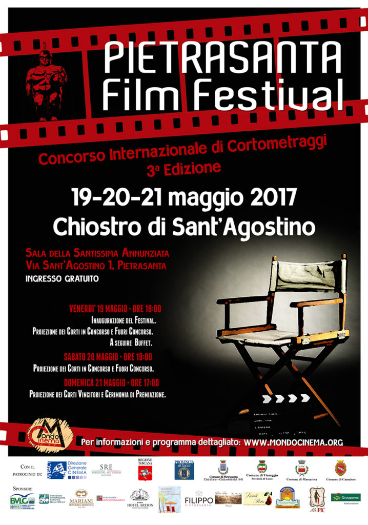 Manifesto 2017 del PIETRASANTA Film Festival
