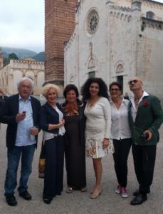 Lodovico Gierut, Marilena Cheli Tomei, Patrizia Pacini, Fabio Pompili in Piazza Duomo a Pietrasana