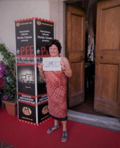 Patrizia Pacini e il premio dell'Associazione Culturale Mondo Cinema
