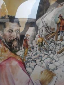 """Dettaglio della mostra """"Nel segno di Michelangelo"""""""